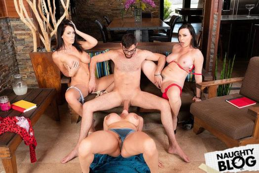 My Friend's Hot Mom - Ariella Ferrera, Dana Dearmond & Reagan Foxx