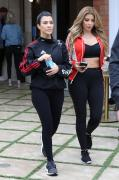 Kourtney Kardashian & Larsa Pippen - Leaving the gym in Calabasas 4/30/18