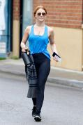 Julianne Hough - Leaving the gym in Studio City 4/30/18