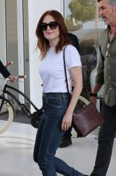 Julianne Moore - Leaves Hotel Martinez Cannes 2018 / May 8th