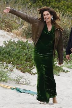 Cindy Crawford - Beach Photo Shoot in Malibu (5/24/18)