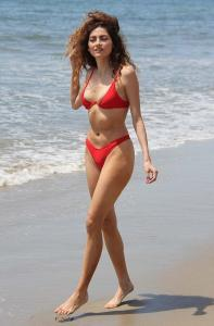 Blanca Blanco - In A Red Bikini Taking In The Beach In Malibu (5/5/18)