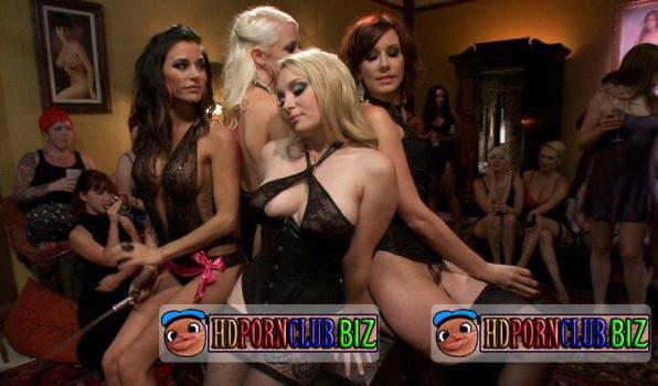 Kink.com/DivineBitches.com – Lorelei Lee, Aiden Starr, DJ, Gia DiMarco, Parker London, Dutch Bardoux – The most intense public FemDom pajama party ever! [HD 720p]